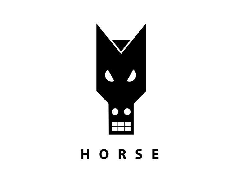 HORSE icon illustration