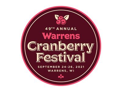 Warrens Cranberry Festival Button button festival cranberry wisconsin wi warrens