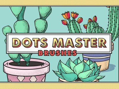 Dots Master Brushes & Patterns Set tools painting drawing brush product seamless grain noise photoshop illustrator pack set patterns brushes dots vector cute art illustration