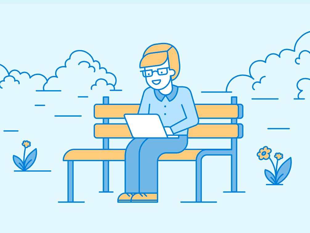 Website Illustration freelance work lineart minimalism flat illustration