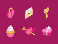 Valentines isometric Icon
