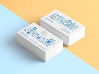 Get Servers business card design