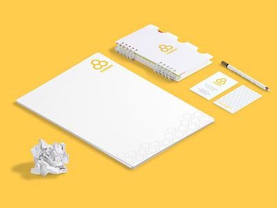 Codon VR identity sci fi developer game modern hexagonal minimalistic identity development yellow vr flat