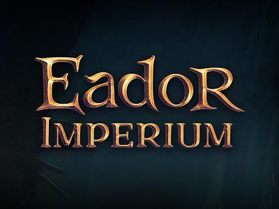 Game logo design for Eador Imperium game graphic design games video game typo logo ancient vintage gold medieval rpg game logo game lettering fonts typography logo