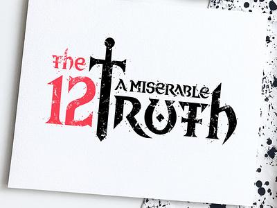 12mt - game logo design sword medieval flat design rpg game logo game design branding design logo minimalistic lettering typography