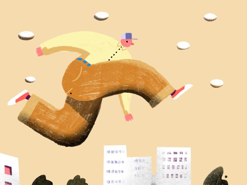 Walkman walkman city procreate book-illustration illustration