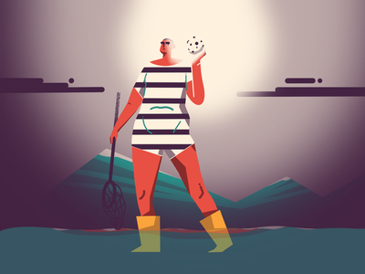 Catch mountain sea procreate illustration catch moonlight