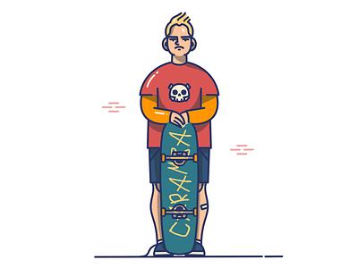 Bart Simpson boy skateboarding fun caramba bart simpson bart inktober legend procreate ipad drawing illustration