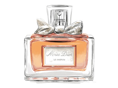 Miss Dior perfume bottle drawing