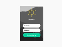 Sign up Daily UI 01