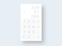 Calculator  - #4 Daily UI