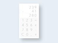 Calculator  - #4 Daily UI