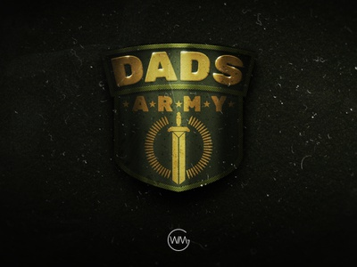 Dads Army design illustration logo