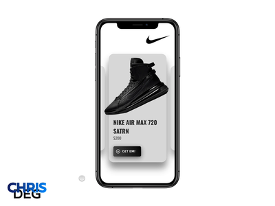 Daily UI Challenge #033 - Customize Product - Nike Shoes