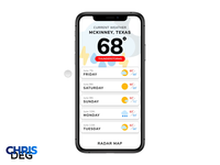 Daily UI Challenge #037 - Weather App