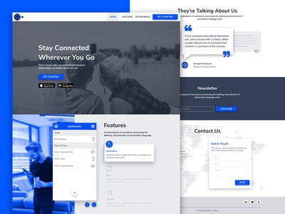 Landing Page Template: Mobile App