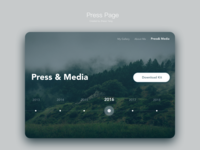 Daily UI challenge: press page
