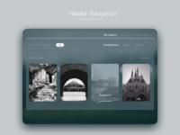 Daily UI challenge: Header Navigation