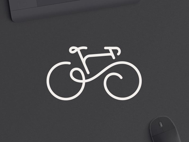 Go Bicycle typography illustration lineart minimalistic logotype logodesign dailylogo dailylogochallenge bicycle minimalist logo vector logo design branding
