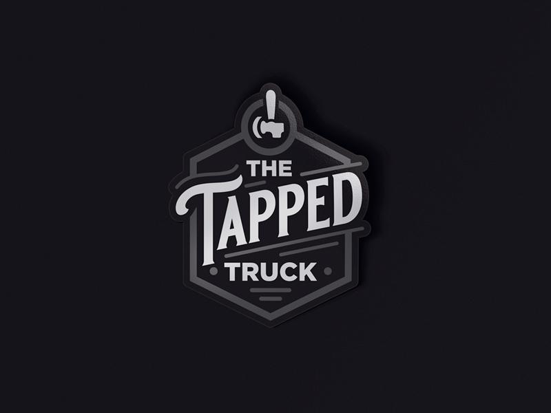 The Tapped Truck graphic design graphicdesign beer art vintage badge vintage font vector vintage vintage logo logotype logodesign lettering dailylogochallenge dailylogo typography logo illustration design branding