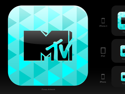 iOS icon for an MTV app icon ios