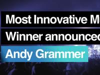 Winner announcement slide for OMAs