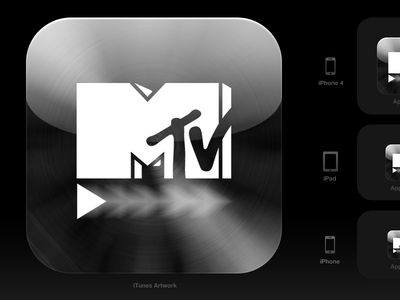 iOS icon for an MTV app ios icon mtv