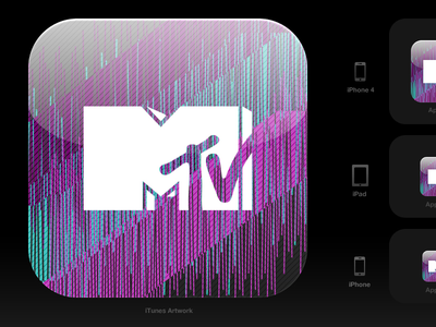 iOS icon for an MTV app ios mtv icon