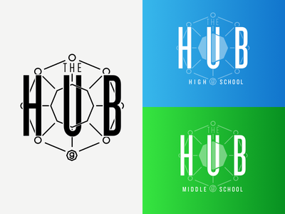 Getwell Road Student Ministry's building, The Hub geometric science octagon ministry student student ministry logo