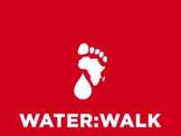 Waterwalk on red