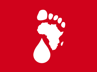 Water:Walk for Blood:Water foot walk aids water charity africa