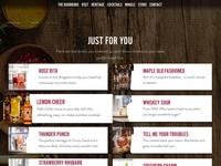 Four Roses Cocktails drinks bourbon cocktails web design website site