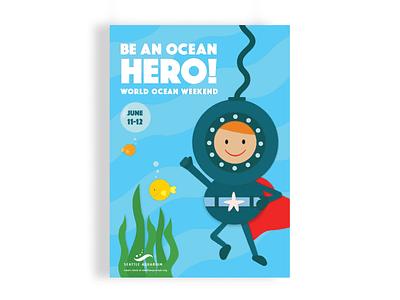 Seattle Aquarium Poster illustrator vector childrens illustration illustration poster art poster design poster