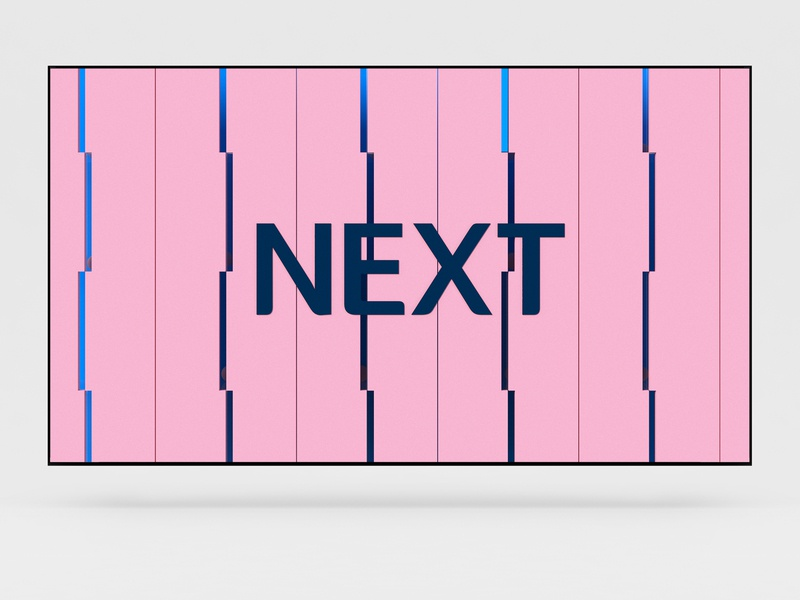channel oap next s2-2 tv oap next grid concept channel design geometric graphicdesign identity branding 3d helixd