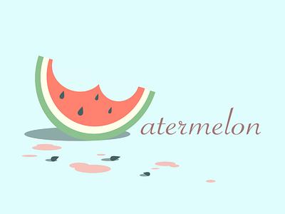 Watermelon Vector Art watermelon digital art affinity designer affinitydesigner ui minimalism minimal illustration icon logo flat