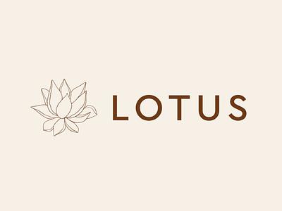 Lotus Logo simple logo design simple beige graphic art lotus flower flowerlogo lotus graphicdesign digital art affinitydesigner ui minimalism minimal illustration icon logo flat