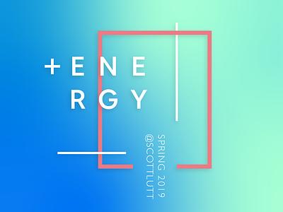 Positive Energy graphic deisgn visual art gradient typogaphy illustrator music album cover illustration design