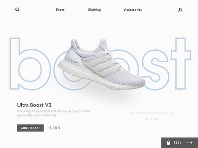 Boost Concept typography shoes sketch website concept graphic deisgn design branding ui