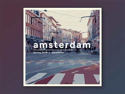 Amsterdam Muziek design spotify music illustrator photography graphic deisgn visual design