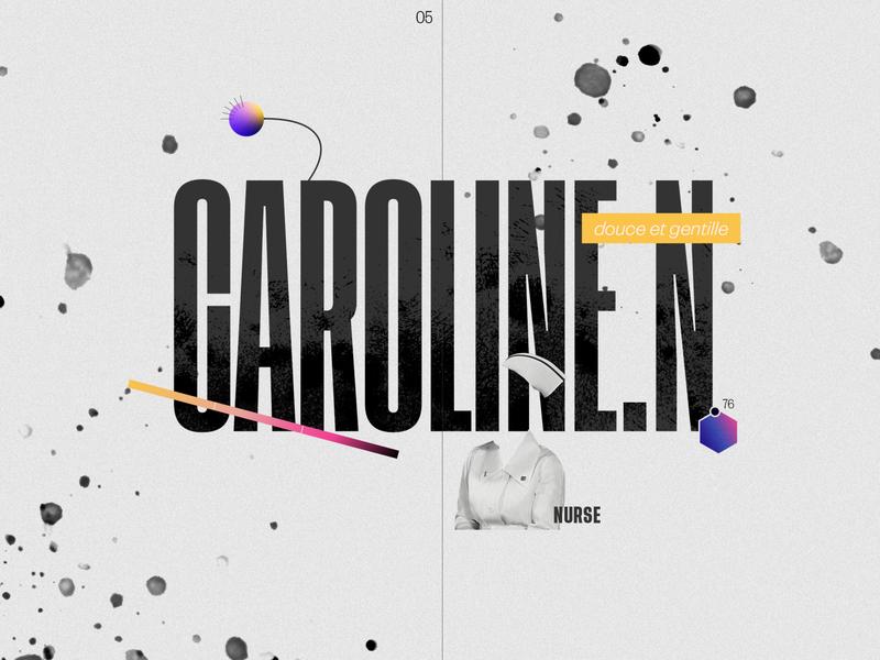 Femicide in France, 2019: Caroline infographic gradient datavisualization data designlife dataviz design collage illustration data viz data visualization collageart