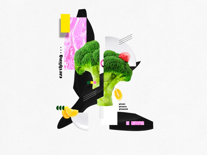 Moodboard - New Veganism brandidentity brand design branding design brand vegan collageart collage