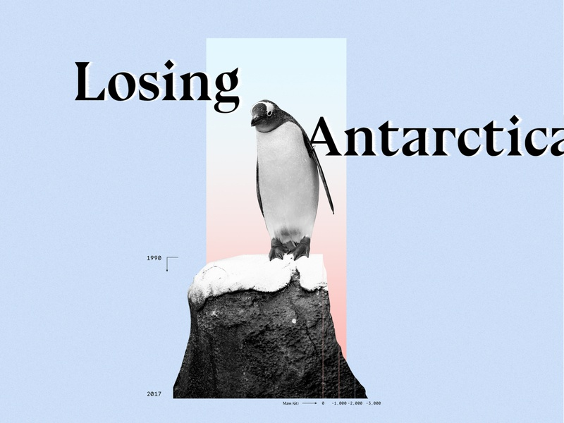 Losing Antarctica. climatechange vintage design dataviz retro datavisualization collageart collage photoshop data viz data visualization