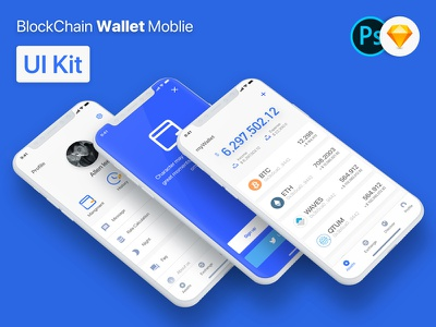BlockChain Wallet Mobile APP UI Kit iphone x ui kit uikit ui blockchain wallet blockchain wallet