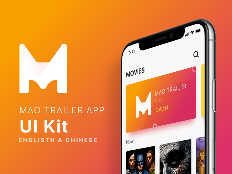 Movies app UI Kit sketch uikit app movies
