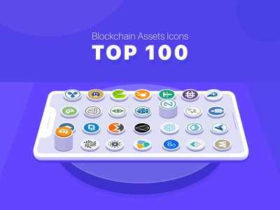 100 Blockchain (Cryptocurrency) Icons blockchain assets icons sketch illustrator wallet freebies