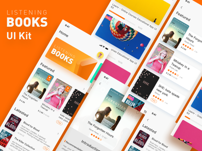 Listening to books UI Kit listen book app book