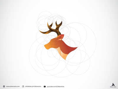 How to Design a Logo with Golden Ratio   Stag brand design illustrations stag art branding vector graphicdesign logo grid golden ratio goldenratio graphic illustration design brand