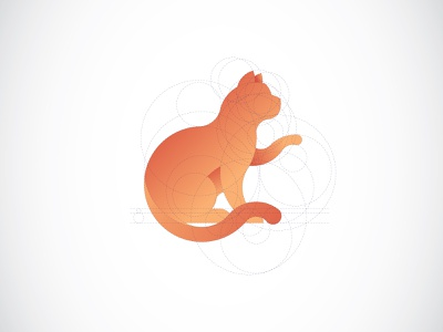 Golden Ratio Logo | Cat cat logo branding grid vector illustration brand design logo graphic golden ratio goldenratio