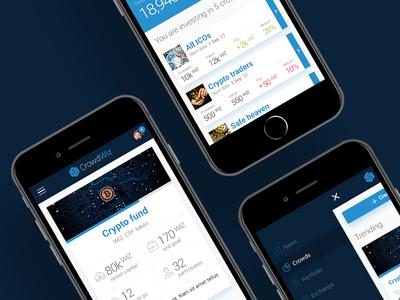 Mobile UI design for ICO Platform cryptocurrency blockchain ico mobile ux ui