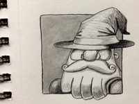 Gandalf the White wizard character icon gandalf hat beard mustache tile